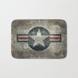 US Air force style insignia V2 Bath Mat