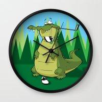 golf Wall Clocks featuring Golf  by Tony Vazquez