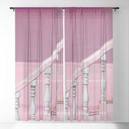 Pink Stairway Sheer Curtain