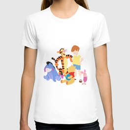 Winnie the pooh characters T-shirt