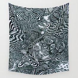 Liquid Skull Wall Tapestry