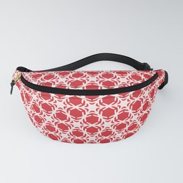 Hand drawn abstract winter snowflakes pattern. Fanny Pack
