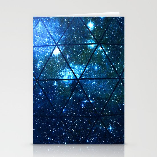 Star Geodesic Stationery Cards