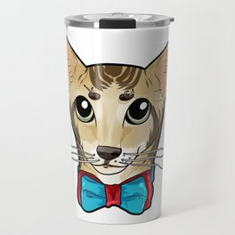 Oriental Shorthair Cat Face Cats Kitty funny gift Travel Mug