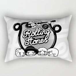 Rolling Music Rectangular Pillow