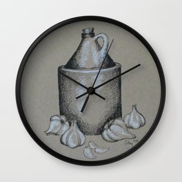 Moonshine & Garlic Wall Clock