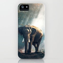 Sunlight Elephant iPhone Case