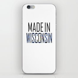 Made In Wisconsin iPhone Skin