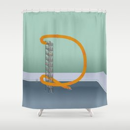 Down we go Shower Curtain