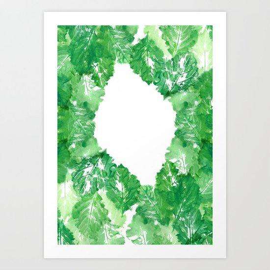 too many leaves Art Print