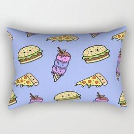 Fast Food Cuties (Blue) Rectangular Pillow