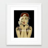 marylin monroe Framed Art Prints featuring MARYLIN MONROE by Swaglab