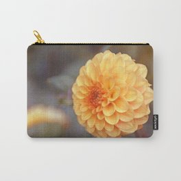 Shiny Yellow Sweet Pixie Dahlia Carry-All Pouch