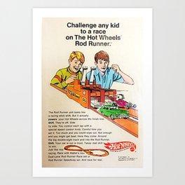 1970 Hot Wheels Redline Rod Runner Figure Eight Toy Track Poster Art Print