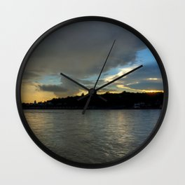 Evening with the Ganges... Wall Clock