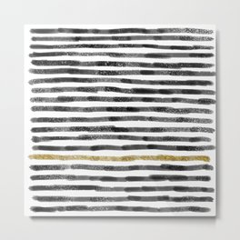 Black Stripes II Metal Print