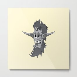 Retro Three-Eyed Elvish Lad Metal Print
