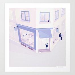Luv'city Art Print