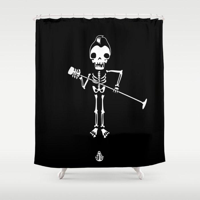 Rockabilly Singer Shower Curtain
