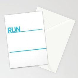 Running I'm A Slow Runner Dear God Please Let There Be Someone Behind Me Stationery Cards