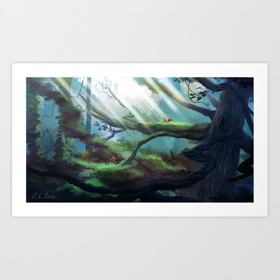 In The Treetops Art Print