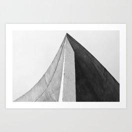 Ronchamp   Notre Dame du Haut chapel   Le Corbusier architect Art Print