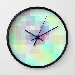 Re-Created Colored Squares No. 15 by Robert S. Lee Wall Clock