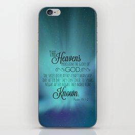Psalm 19:1-2 iPhone Skin