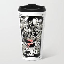 two skeletons gambling Travel Mug