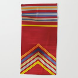 Stripes and Chevrons Ethic Pattern Beach Towel