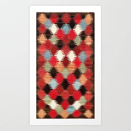 Khaladj Azerbaijan Northwest Persian Kilim Print Art Print