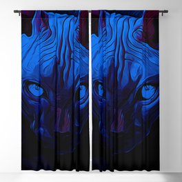 sphynx cat from hell vanfd Blackout Curtain