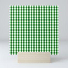 Christmas Green Gingham Check Mini Art Print