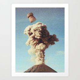 Volcanic Pop Art Print