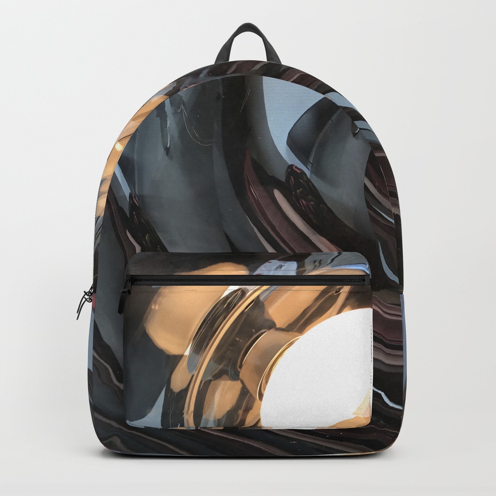 Lighting Reflects A Circle, Abstract Smooth Backpack by Terryann BKP8585242