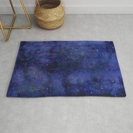 Galaxy Watercolor Nebula Texture Night Sky Stars Rug