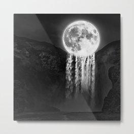 Moon Falls Metal Print