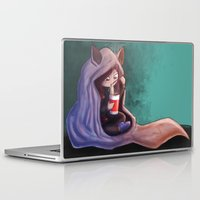 cuddle Laptop & iPad Skins featuring Wolf cuddle by MoTi