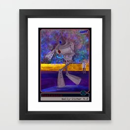 The Belly-Itcher 3000 Baseball Card by michael white Framed Art Print