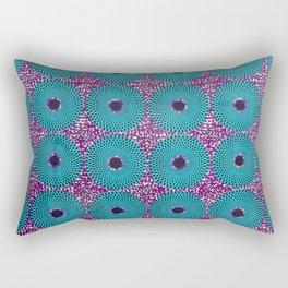 Turquoise Donuts African Ankara Delight Rectangular Pillow