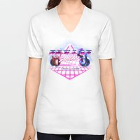 regular show V-neck T-shirts featuring Regular 80's Show by Gazulo Marquez