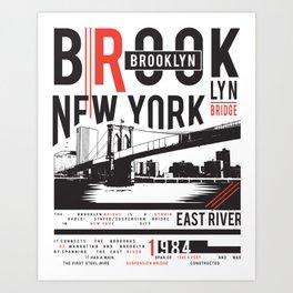 Brooklyn New Yorker Art Print