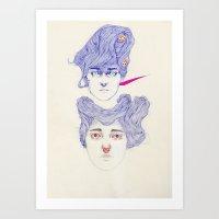 Hair Play 08.2 Art Print