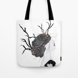 Reindeer in space  Tote Bag