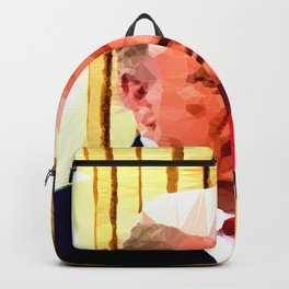 Completely Random President Abstract Low Poly Geometric Art  Backpack