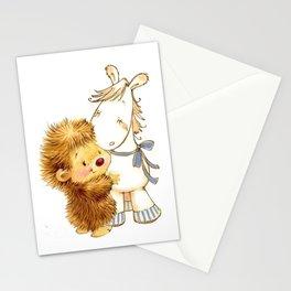 Baby Hedgehog Hedgie Pony Horse Nursery Room Stationery Cards