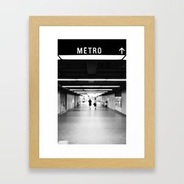 The Métro is right there Framed Art Print