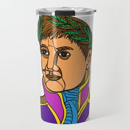 Emperor Napoleon Bonaparte Mono Line Travel Mug