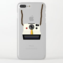 Retro Camera with Strap Clear iPhone Case