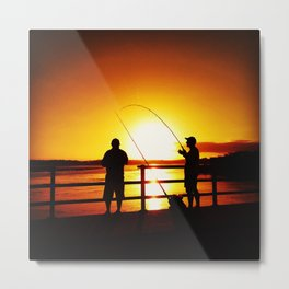 Fishermen. Metal Print